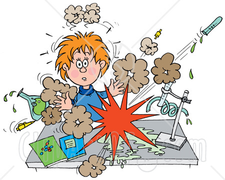 33052-Clipart-Illustration-Of-A-Shocked-School-Girl-Conducting-A-Chemistry-Experiment-While-Her-Chemicals-Explode.jpg